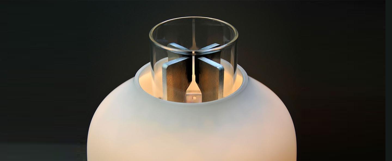 Baladeuse candela light only blanc led 2200k 400lm o18 6cm h24 1cm astep normal
