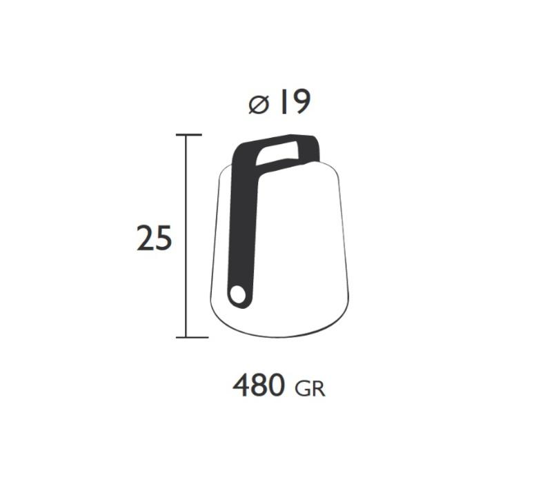 Balad tristan lohner baladeuse d exterieur outdoor portable lamp  fermob 3611 46  design signed 32763 product