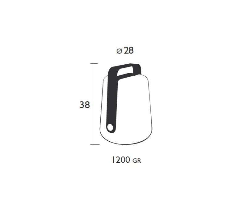 Balad tristan lohner baladeuse d exterieur outdoor portable lamp  fermob 3621 46  design signed 32785 product