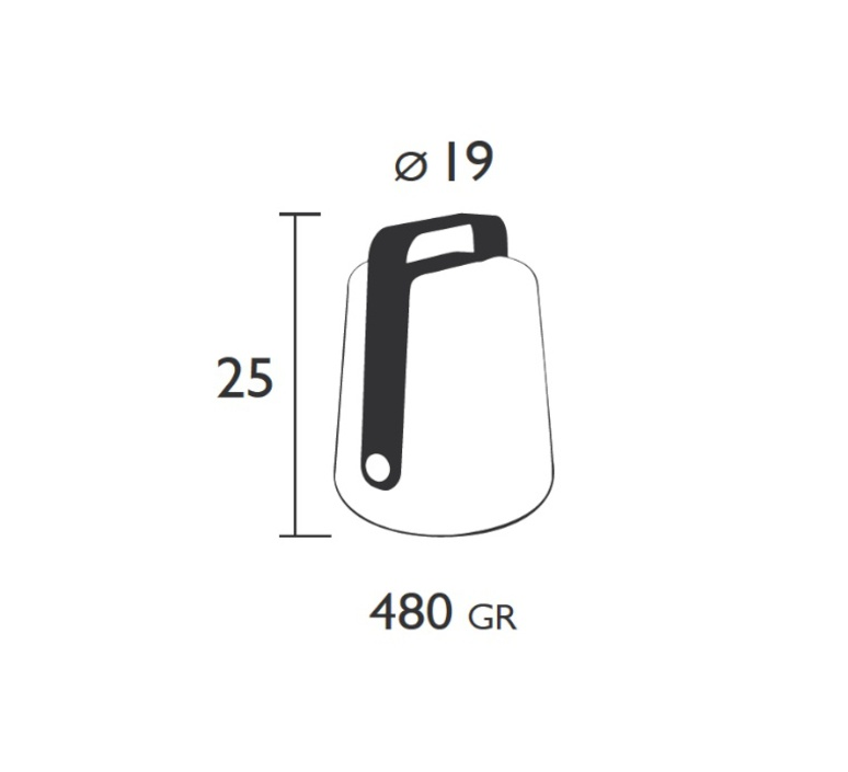 Balad tristan lohner baladeuse d exterieur outdoor portable lamp  fermob 3611 26  design signed 32769 product