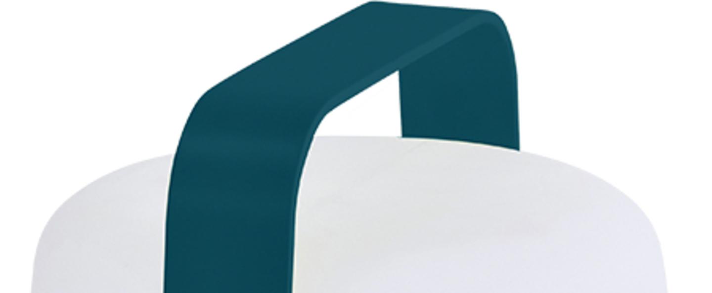 Baladeuse d exterieur balad lampe h25 bleu acapulco ip44 led 2300 4000 6000k 40lm o19cm h25cm fermob normal
