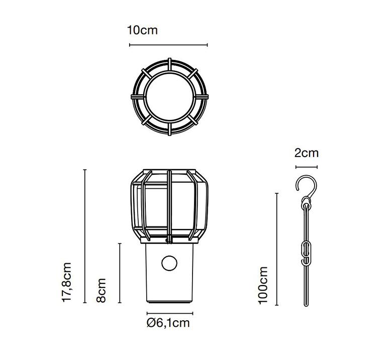Chispa joan gaspar baladeuse d exterieur outdoor portable lamp  marset a703 001  design signed nedgis 117355 product