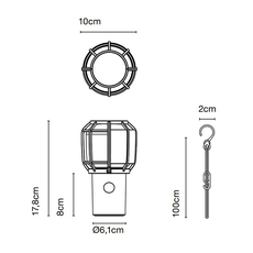 Chispa joan gaspar baladeuse d exterieur outdoor portable lamp  marset a703 001  design signed nedgis 117355 thumb