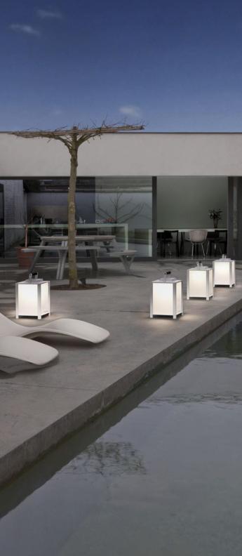 Baladeuse d exterieur kabaz floor led blanc h41cm l30cm modular normal