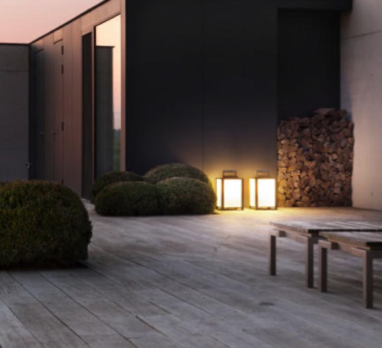 Baladeuse d 39 ext rieur kabaz floor led noir h41cm - Design outdoor mobel ...
