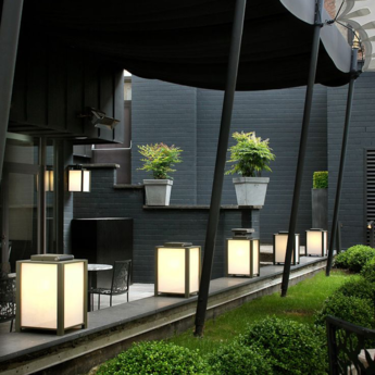 Baladeuse d exterieur kabaz floor led vert h41cm l30cm modular normal