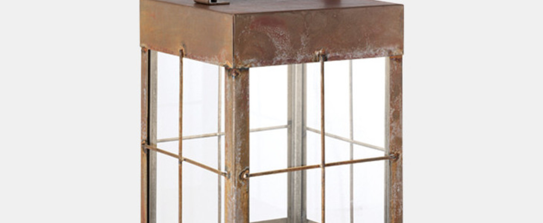 Baladeuse d exterieur lanterne marron o23cm h46cm il fanale normal