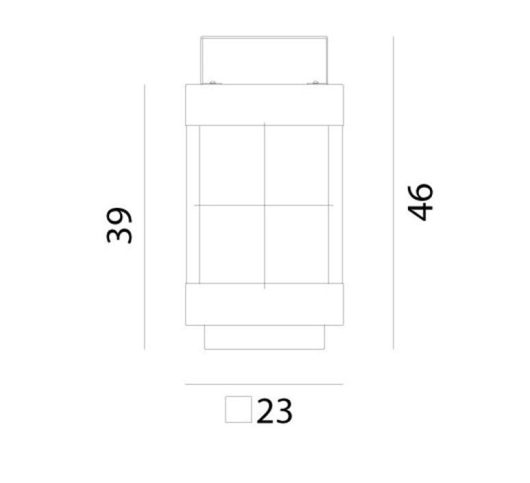 Lanterne  baladeuse d exterieur outdoor portable lamp  il fanale 266 11 ff  design signed nedgis 66909 product