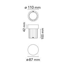 Last order michael anastassiades baladeuse d exterieur outdoor portable lamp  flos f03694039  design signed nedgis 99703 thumb