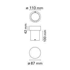Last order michael anastassiades baladeuse d exterieur outdoor portable lamp  flos f03693056  design signed nedgis 99692 thumb