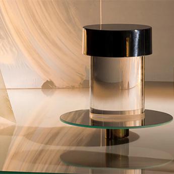 Baladeuse d exterieur last order transparent lisse et inox poli ip55 led 2700k 200lm o11cm h14 2cm flos normal
