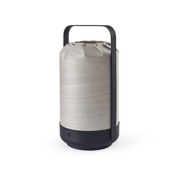 Baladeuse d exterieur mini chou gris led 4000k lm o13 5cm h26cm lzf normal