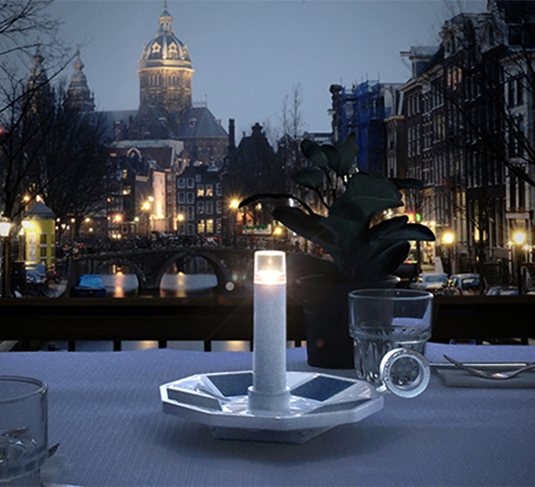 Miss nightingale annet van egmond baladeuse d exterieur outdoor portable lamp  contardi miss nightingale white  design signed nedgis 104025 product