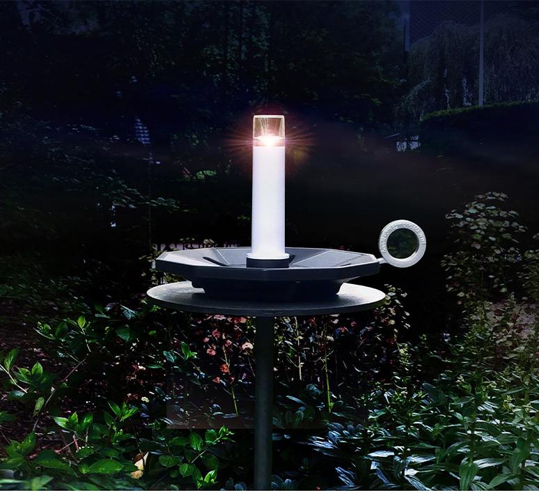 Miss nightingale annet van egmond baladeuse d exterieur outdoor portable lamp  contardi miss nightingale black  design signed nedgis 104031 product