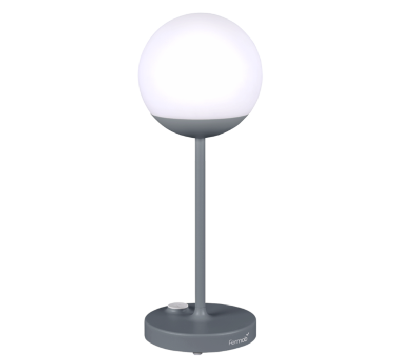 Moon tristan lohner baladeuse d exterieur outdoor portable lamp  fermob 5301 gris  design signed 44976 product