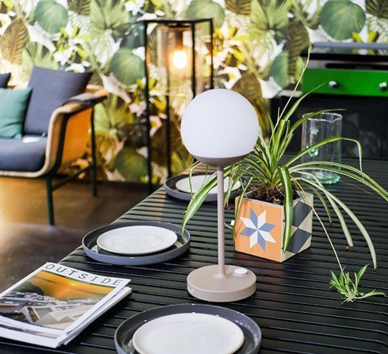 Moon tristan lohner baladeuse d exterieur outdoor portable lamp  fermob 5301 gris  design signed 55802 product