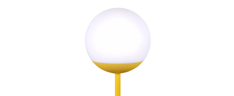 Baladeuse d exterieur moon jaune led o15cm h41cm fermob normal