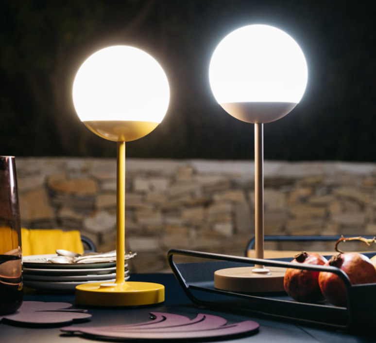 Moon tristan lohner baladeuse d exterieur outdoor portable lamp  fermob 5301 jaune  design signed 44969 product