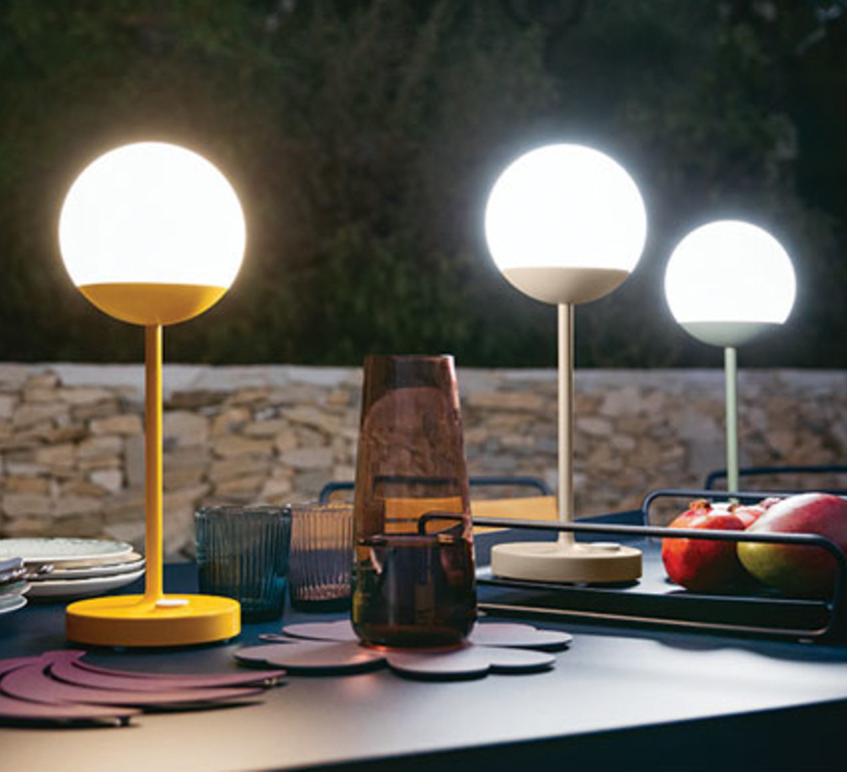 Moon tristan lohner baladeuse d exterieur outdoor portable lamp  fermob 5301 marron  design signed 44965 product