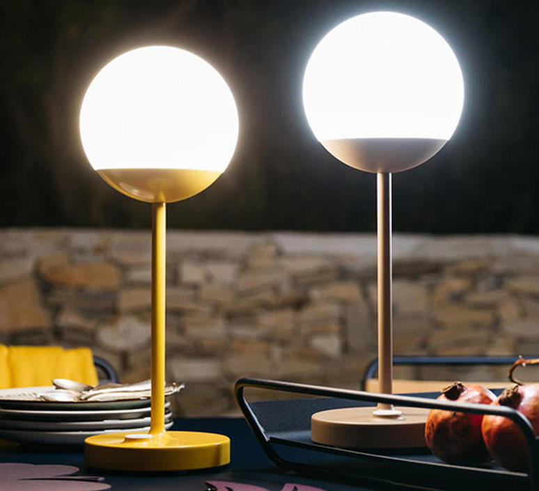 Moon tristan lohner baladeuse d exterieur outdoor portable lamp  fermob 5301 marron  design signed 44966 product