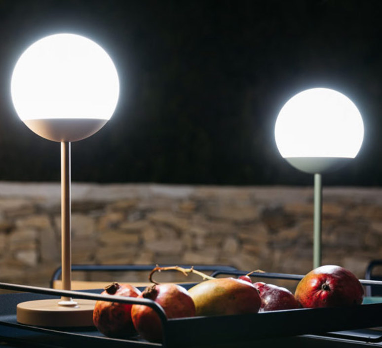 Moon tristan lohner baladeuse d exterieur outdoor portable lamp  fermob 5301 marron  design signed 44967 product