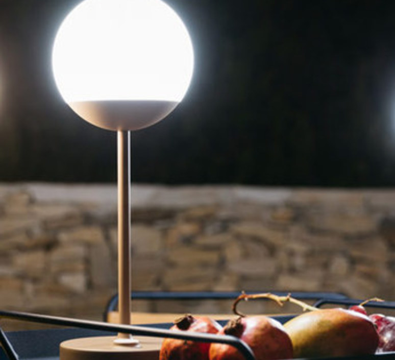 Moon tristan lohner baladeuse d exterieur outdoor portable lamp  fermob 5301 marron  design signed 55799 product