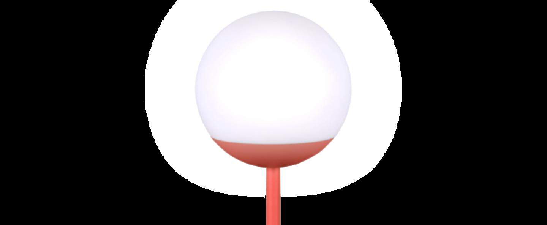 Baladeuse d exterieur moon rouge led o15cm h41cm fermob normal