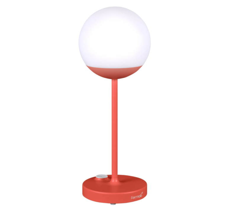 Moon tristan lohner baladeuse d exterieur outdoor portable lamp  fermob 5301 rouge  design signed 44972 product