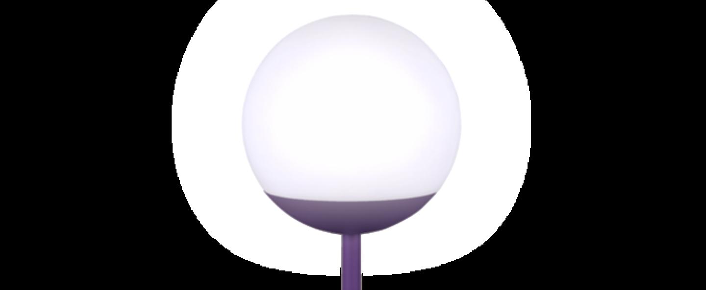 Baladeuse d exterieur moon violet led o15cm h41cm fermob normal