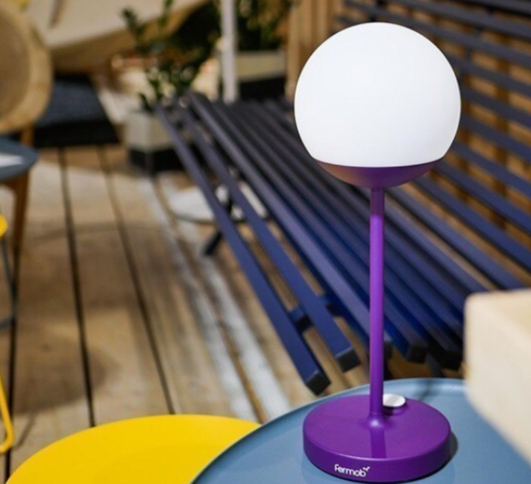 Moon tristan lohner baladeuse d exterieur outdoor portable lamp  fermob 5301 violet  design signed 55801 product