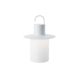 Baladeuse d exterieur nautic blanc ip45 led 2700k 105lm o25cm h29cm alma light normal