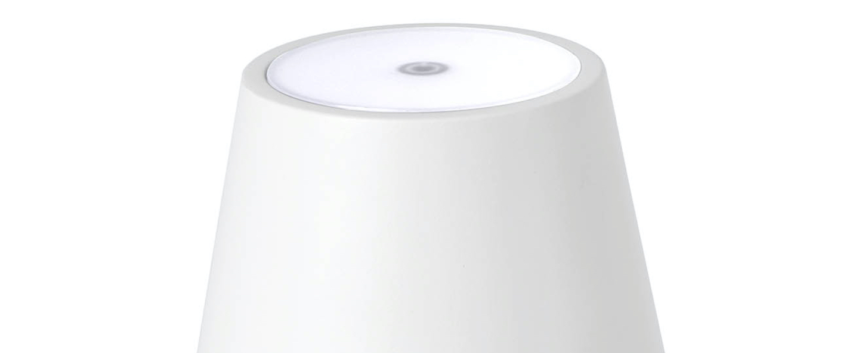 Baladeuse d exterieur toc blanc ip54 led 3000k 150lm o11cm h38cm faro normal
