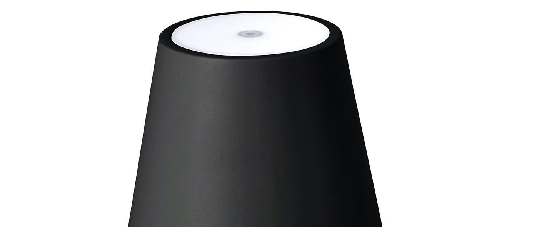 Baladeuse d exterieur toc noir ip54 led 3000k 150lm o11cm h38cm faro normal