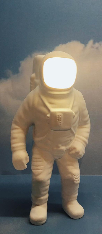 Baladeuse flashing starman blanc led 2700k 300lm l18cm h22 5cm seletti normal