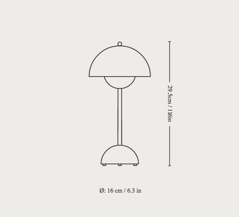 Flowerpot vp9 verner panton baladeuse portable lamp  andtradition 20758801  design signed nedgis 126501 product
