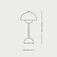 Flowerpot vp9 verner panton baladeuse portable lamp  andtradition 20758801  design signed nedgis 126501 thumb