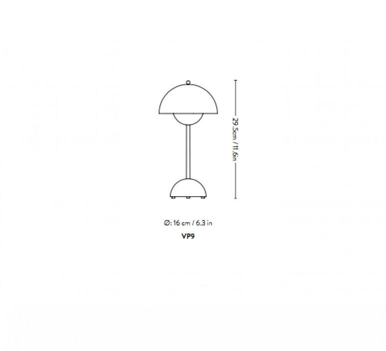Flowerpot vp9 verner panton baladeuse portable lamp  andtradition 20755401  design signed nedgis 122838 product