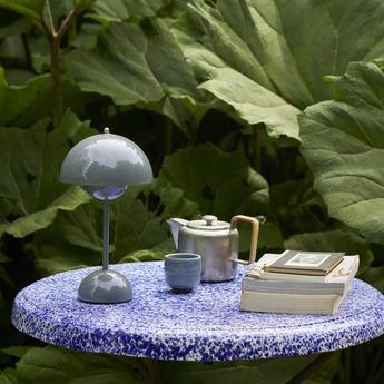 Baladeuse flowerpot vp9 stone blue ip44 o16cm h29 5cm andtradition normal