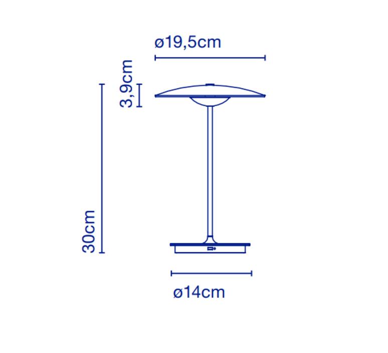 Ginger 20 m joan gaspar baladeuse portable lamp  marset a662 140  design signed 44386 product
