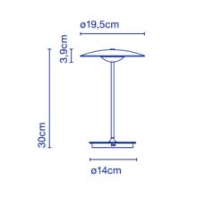 Ginger 20 m joan gaspar baladeuse portable lamp  marset a662 140  design signed 44386 thumb
