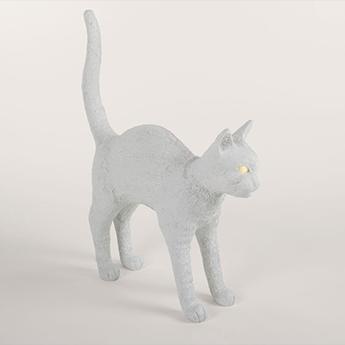 Baladeuse jobby the cat lamp felix blanc led 3300k lm l46cm h42cm seletti normal