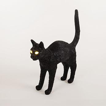 Baladeuse jobby the cat lamp felix noir led 3300k lm l46cm h42cm seletti normal