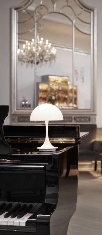 Baladeuse panthella baladeuse blanc ip23 led 2700k 230lm o16cm h23cm louis poulsen normal