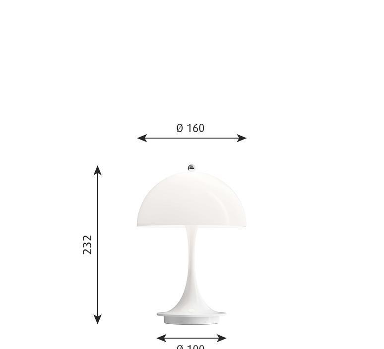Panthella baladeuse verner panton baladeuse portable lamp  louis poulsen 5744166661  design signed nedgis 81908 product
