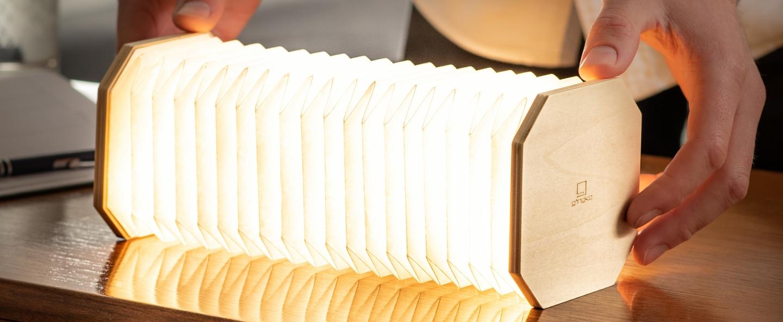 Baladeuse smart accordion bois d erable naturel l10cm h10cm gingko normal