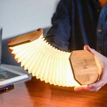 Baladeuse smart accordion bois de bambou naturel l10cm h10cm gingko normal