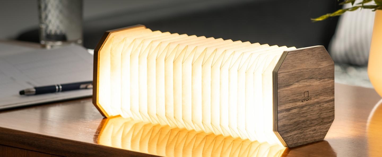 Baladeuse smart accordion bois de noyer naturel l10cm h10cm gingko normal
