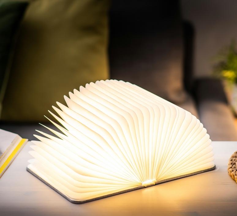Smart book large studio gingko baladeuse portable lamp  gingko gk12f gy1  design signed nedgis 96704 product