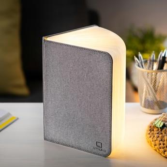 Baladeuse smart book large gris l17cm h21 5cm gingko normal