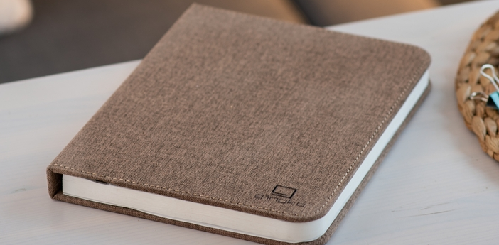 Baladeuse smart book large marron l17cm h21 5cm gingko normal